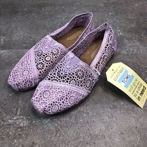 Toms Women's Classics Lilac Snow Crochet Shoes